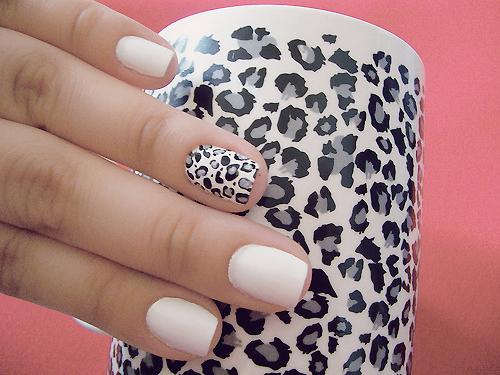 Леопардовые ногти как сделать