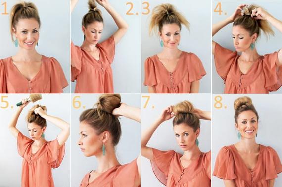 Как сделать на короткие волосы гульку