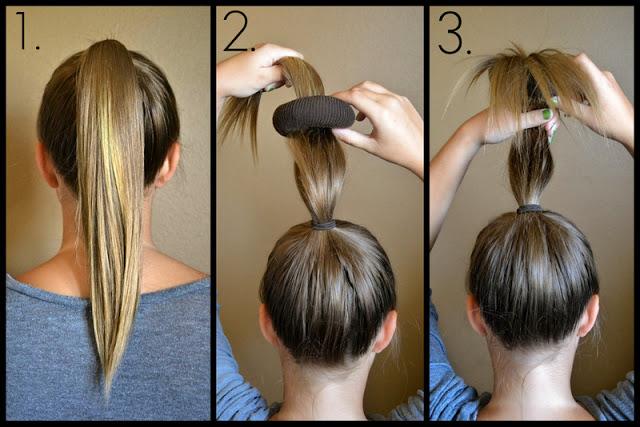 Как сделать прическу с помощью бублика для волос