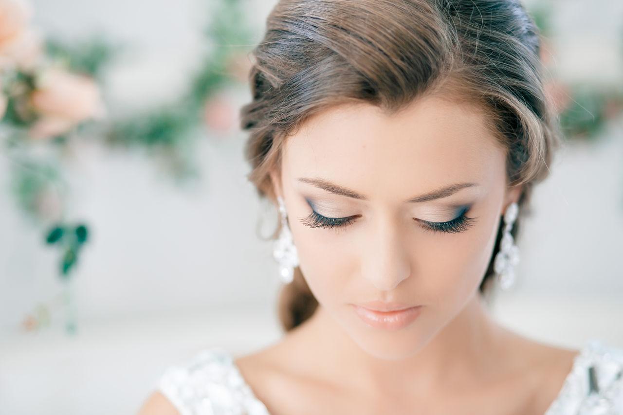Макияж невесты для русых волос