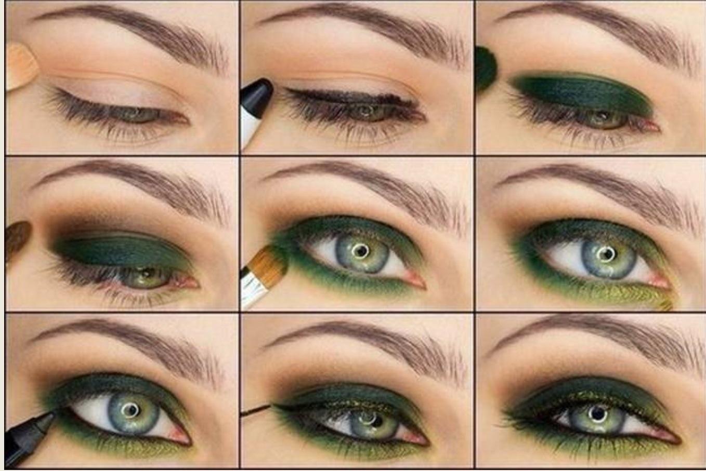 Макияж серо зеленые глаза