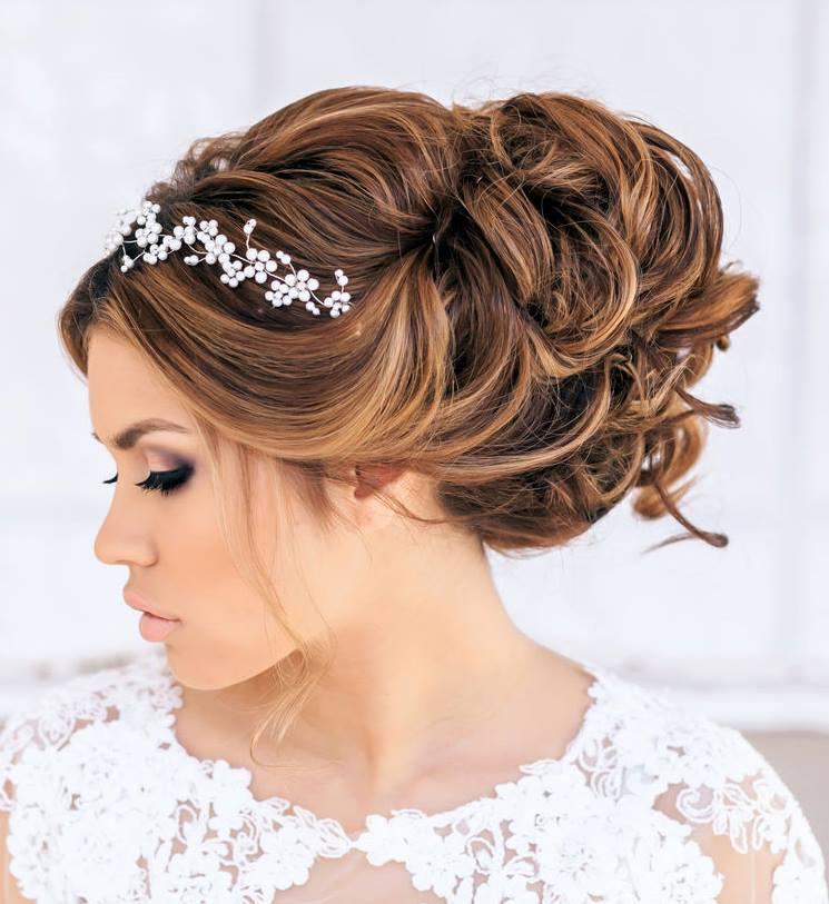 Прически на свадьбу собранные волосы на средние волосы