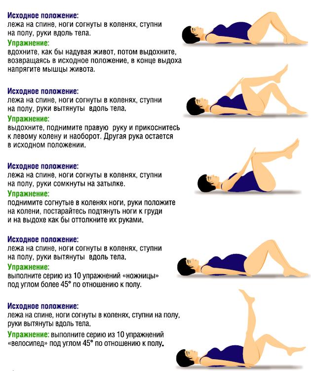 Гимнастика для беременных на 3 триместре в домашних условиях