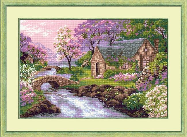 Вышивка крестом картины с пейзажами