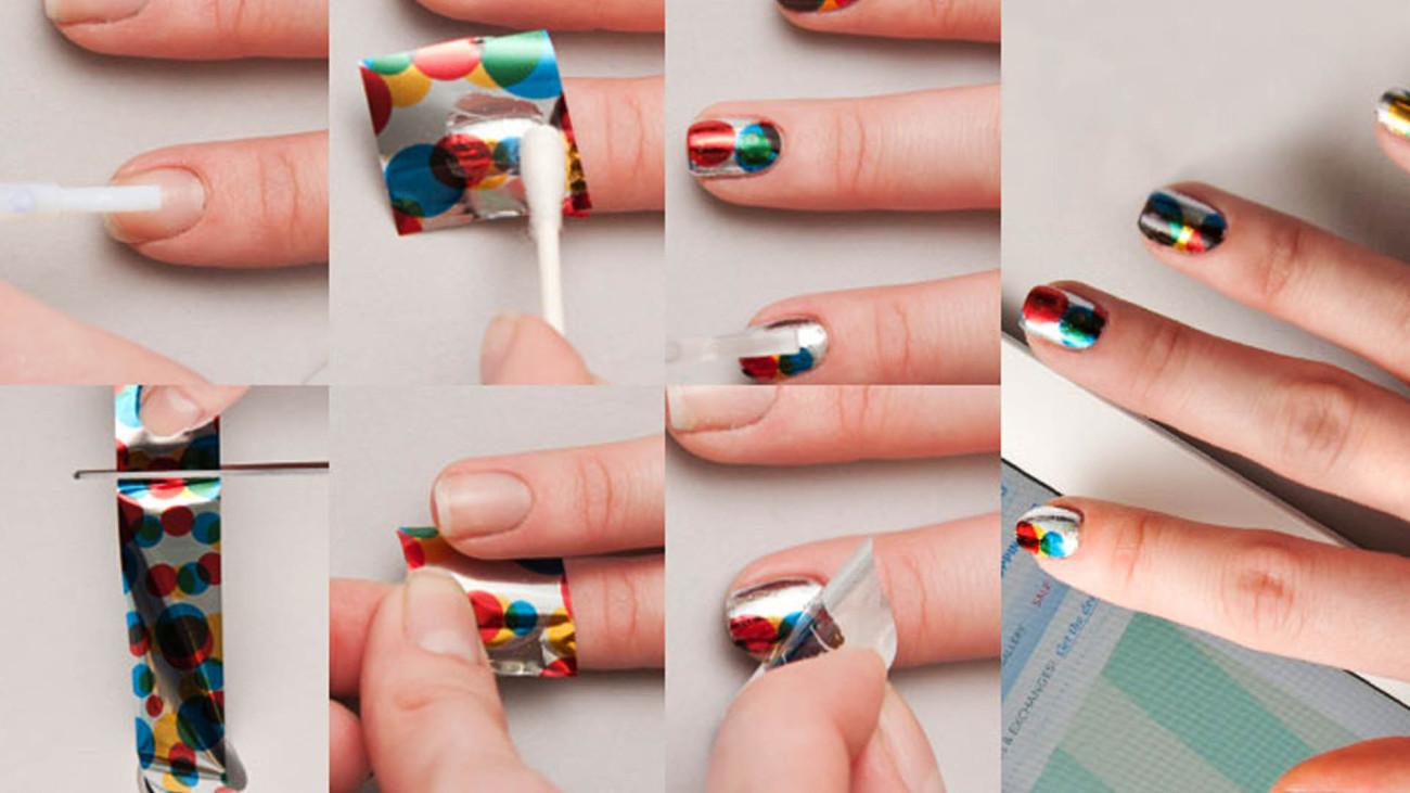 Как сделать ногти с фольгой фото