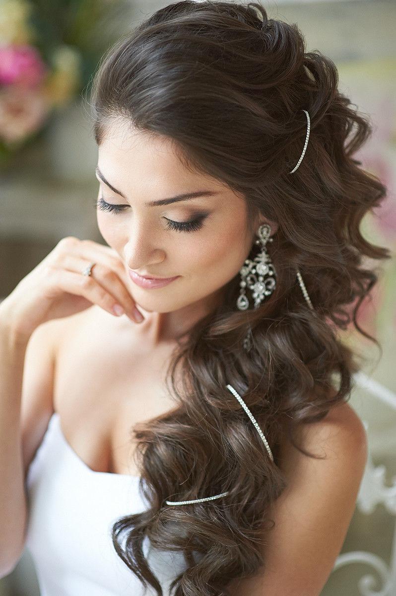 Фото свадебная прическа на длинные волосы