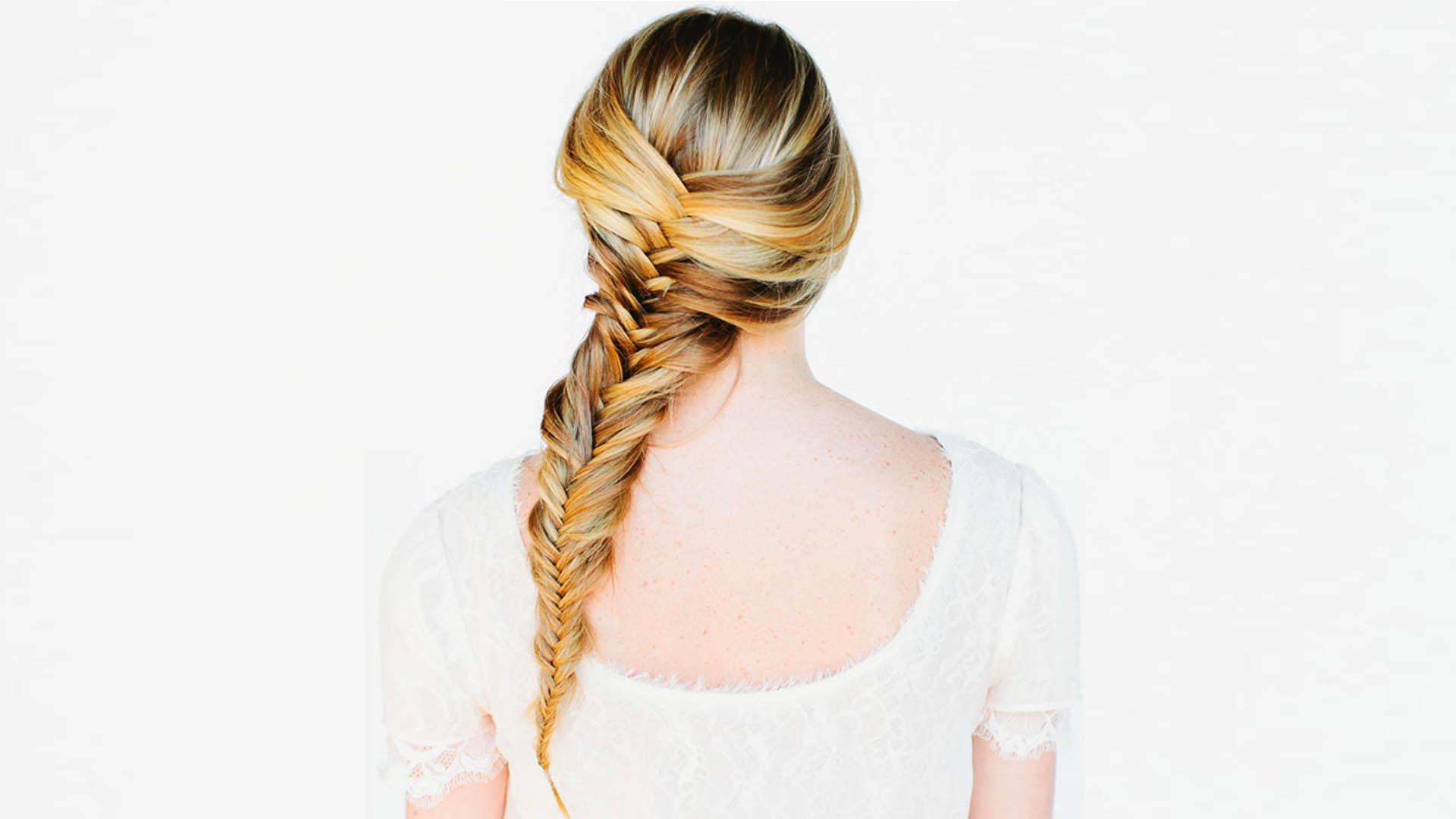 Рыбий хвост прически на длинные волосы