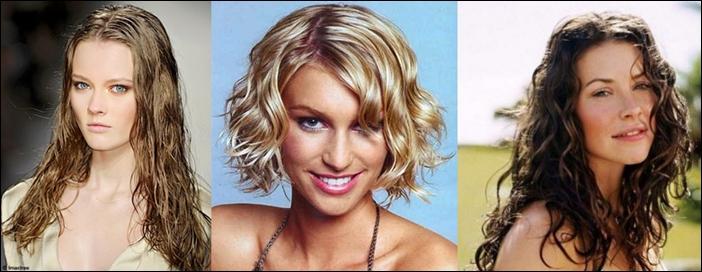 Эффект мокрых волос на короткие, средние волосы, на 81