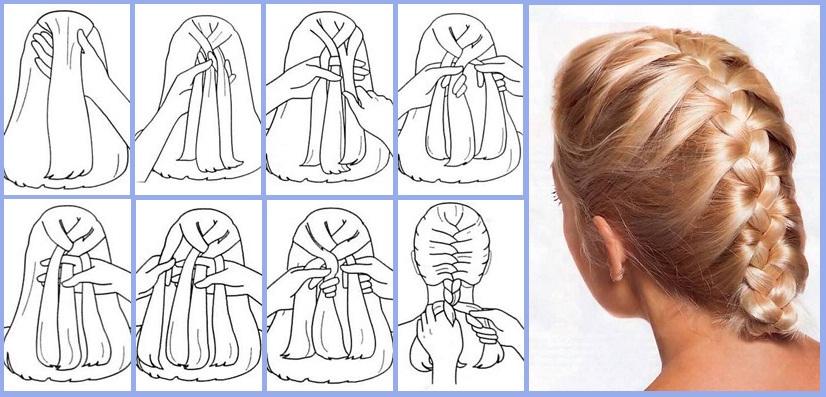 Плетение колоском для начинающих