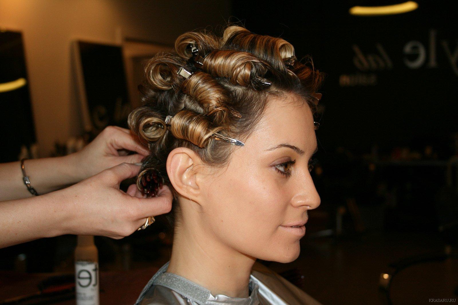 Укладка волос на химический состав