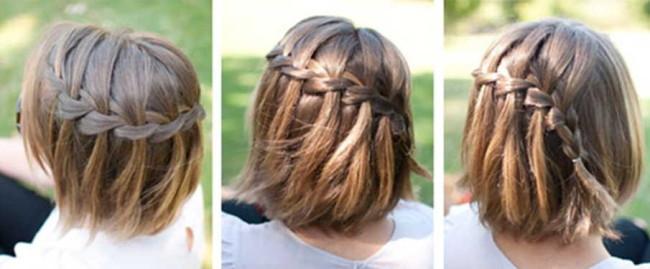 Плетение на короткие волосы в домашних условиях пошагово