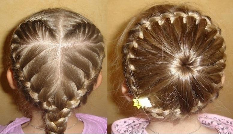 Плести косички на короткие волосы ребенку видео
