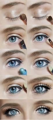 Как сделать простой макияж для серых глаз