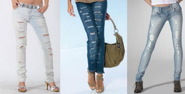 Как правильно порвать джинсы в домашних условиях 16