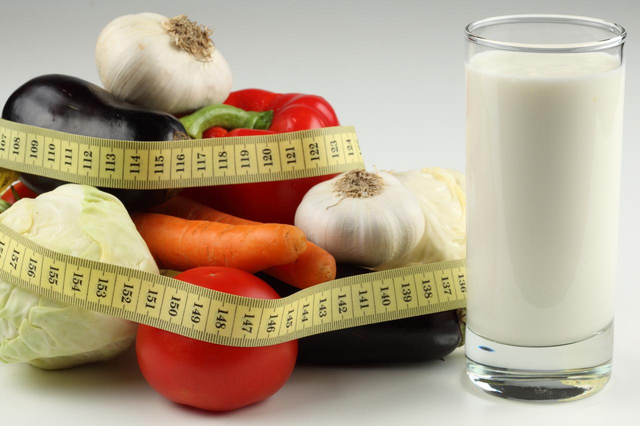 Как похудеть на молоке и овощах и