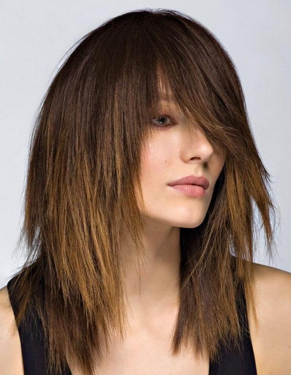 Без челки рваные стрижки на средние волосы
