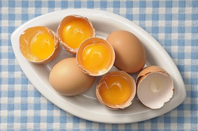 Open eggs