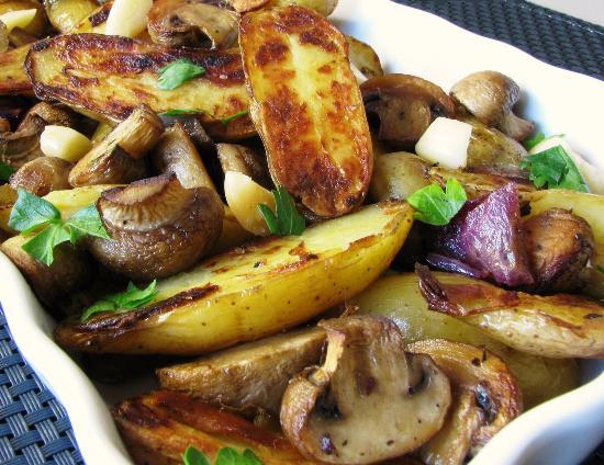 Картошка запеченная с грибами