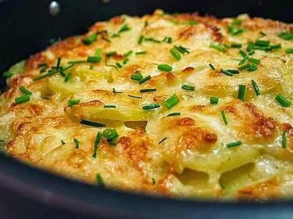 Картошка запеченная с сыром в духовке