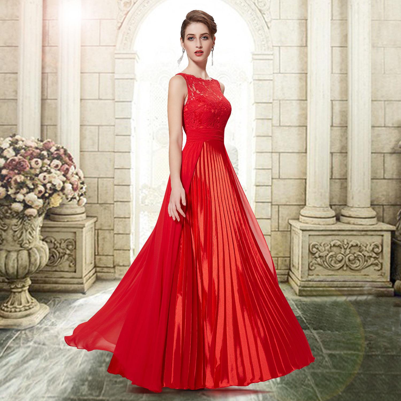 Красные воздушные платья