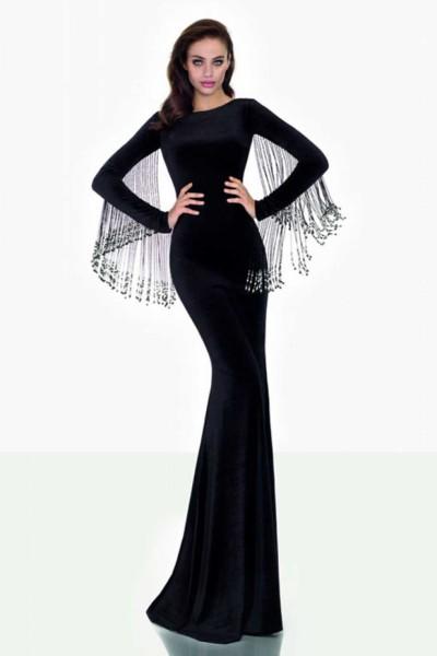 Шикарное черное платье вечернее