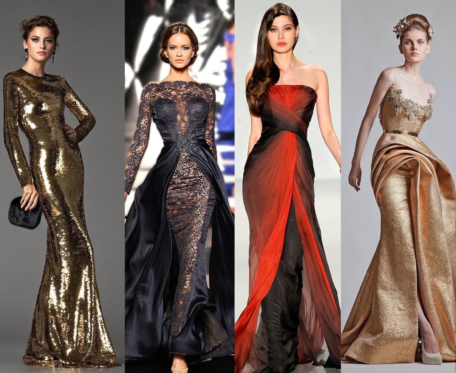 Примеры вечерних платьев