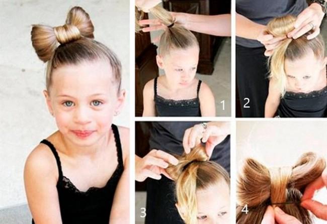 Как сделать самим прически детям