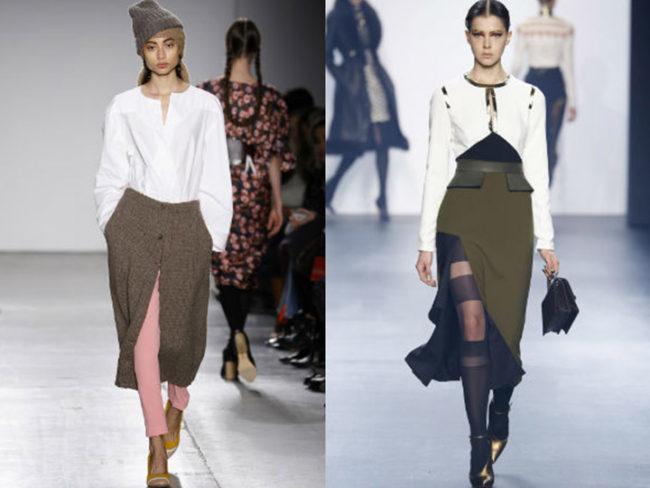Модели юбки с разрезом спереди