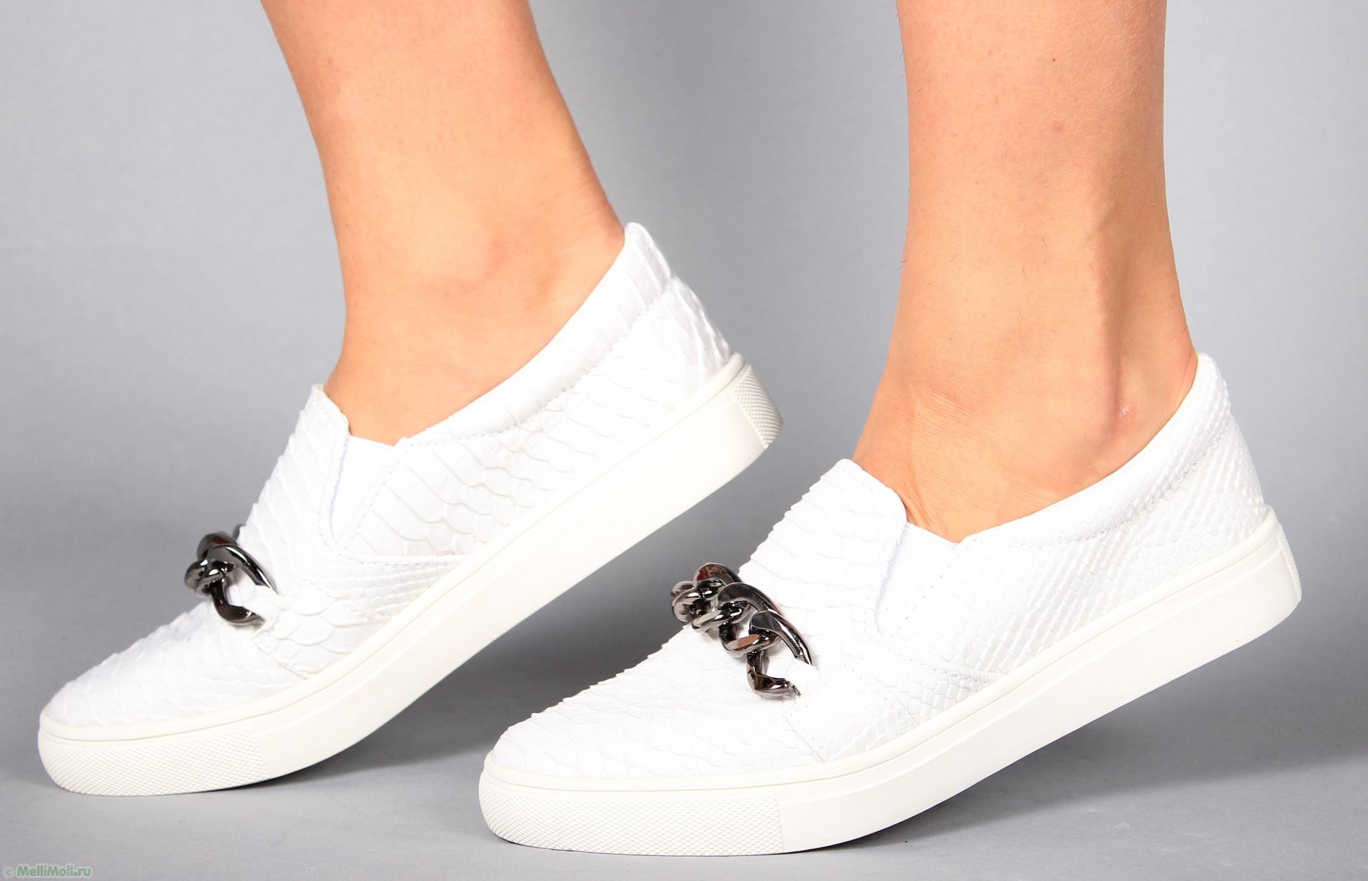 Слипы женские белые обувь