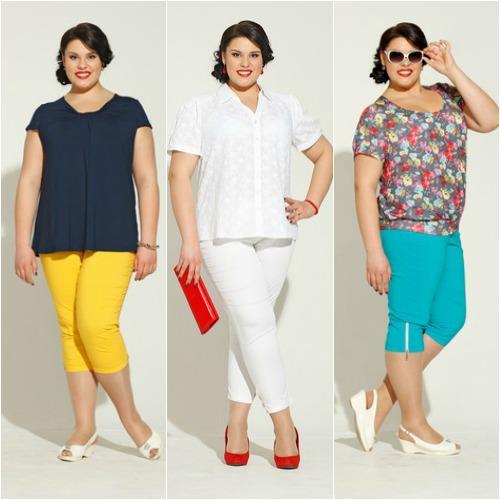 Юбка и блуза для полных женщин