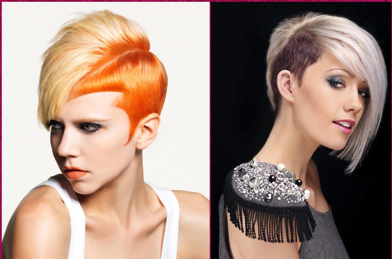 Как сделать прическу на одну сторону короткие волосы