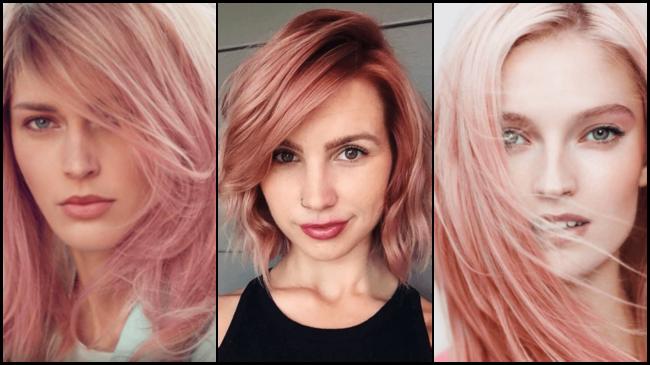 Цвет волос рыже розовый