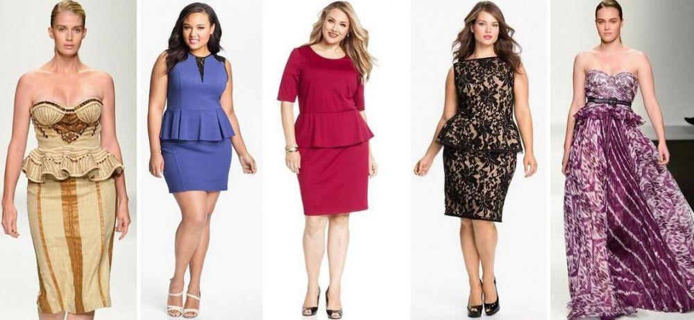 Модные фасоны платьев на полных женщин фото