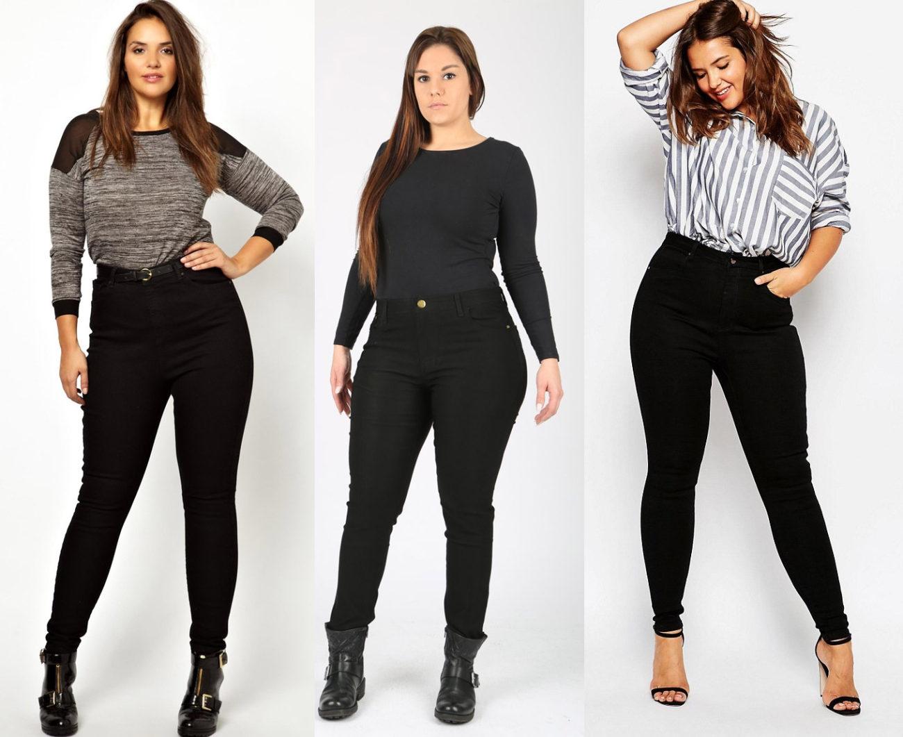 Зауженные брюки для полных девушек фото