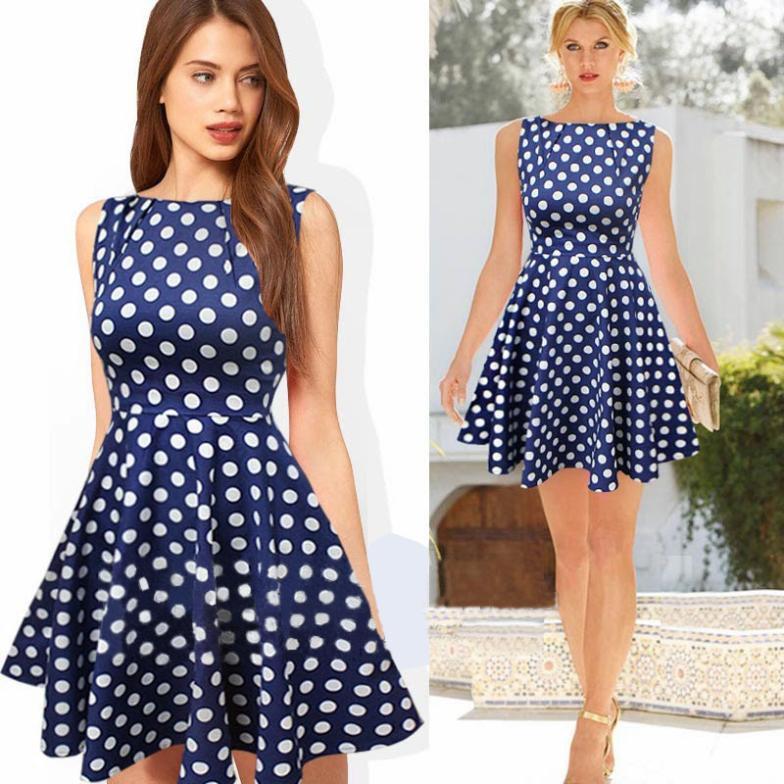 Платья в горошек на лето