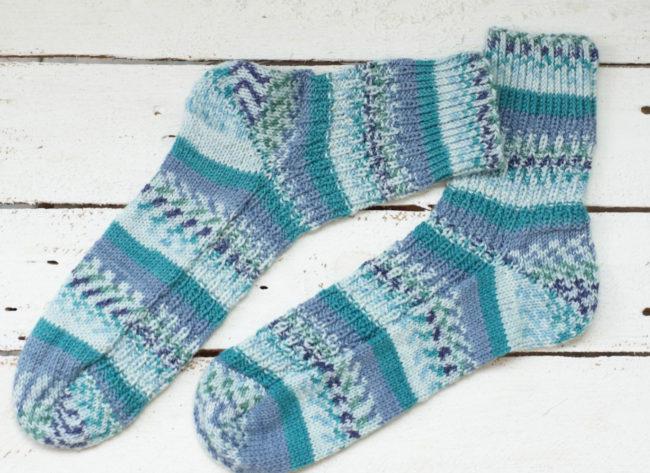 вязание носков спицами схема обыкновенного носка