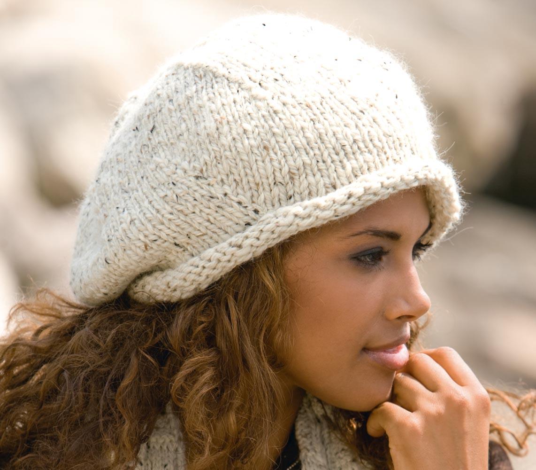 Вязание спицами шапок для женщин фото