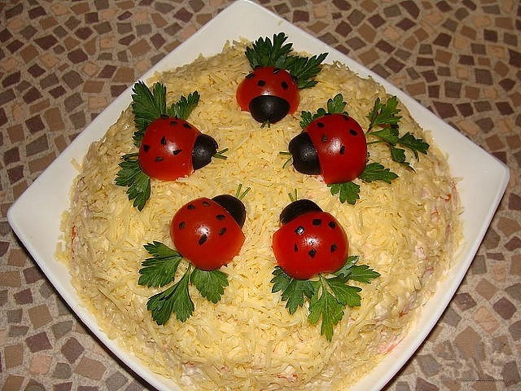 Красивые салаты рецепты с фото