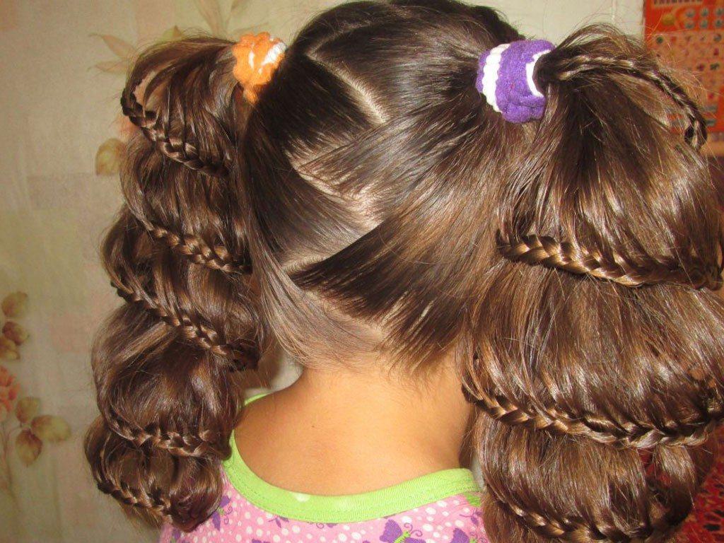 Прически на длинные волосы на 1 сентября ютуб