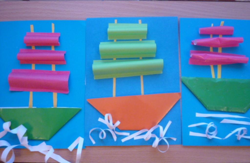 Поделки из бумаги детского сада 2.3 года