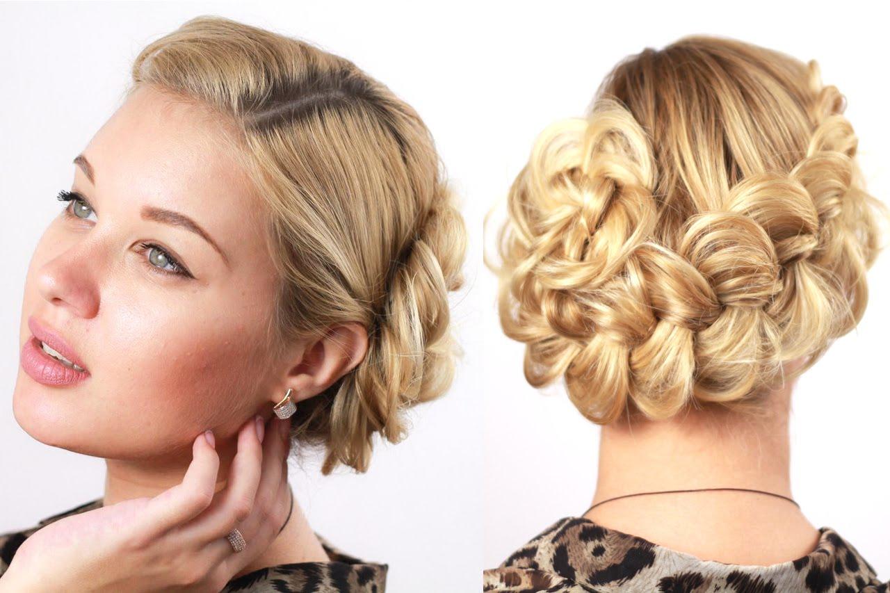 Прически на короткие волосы с плетением