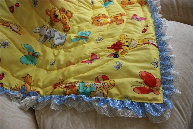 Как сшить детское одеяло из синтепона своими руками