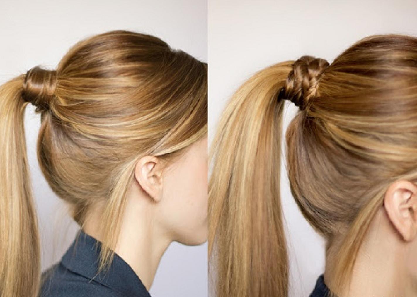 Прически на длинные волосы своими руками хвост