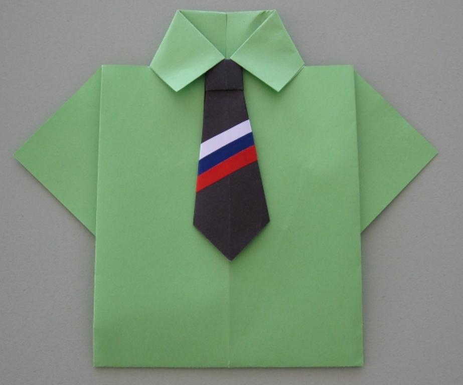 Оригами подарок папе рубашка 45