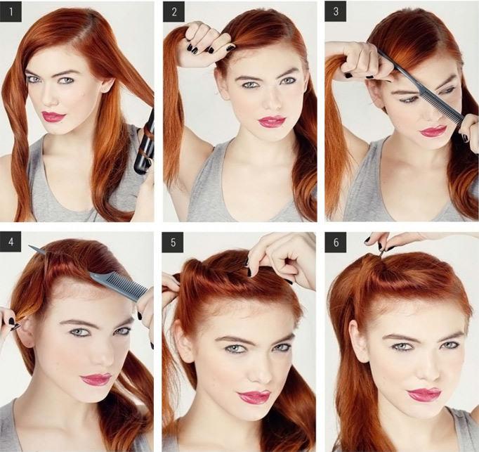 Как сделать прическу на средние волосы распущенные 802