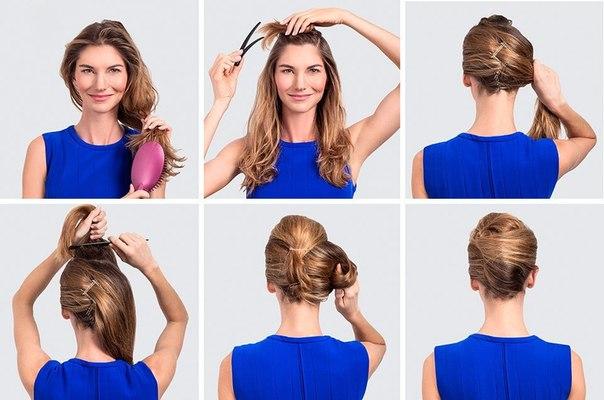 Как сделать ракушку на коротких волосах в
