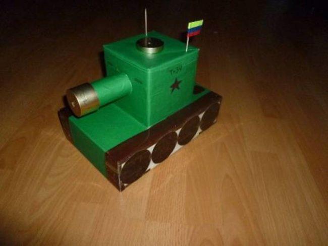 Поделка танк к 23 февраля своими руками