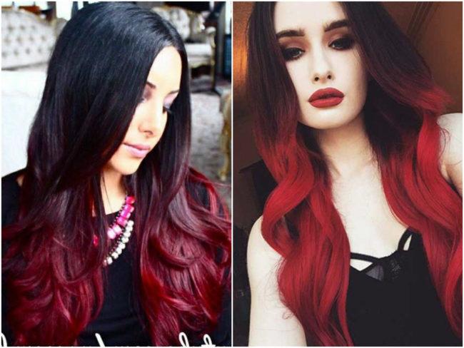 Фото бордовые волосы