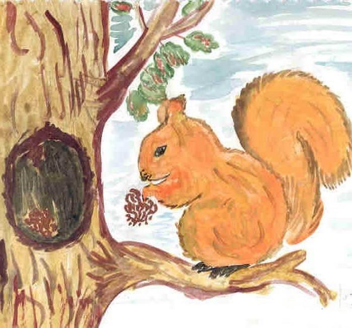 Фонарь на дереве рисунок
