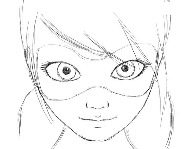 как нарисовать леди баг поэтапно фото